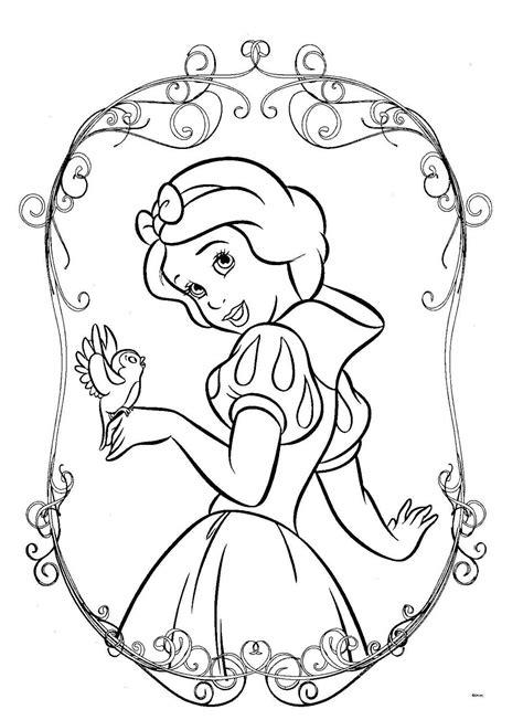 Dibujos Para Colorear De Princesas Disney | Inked | Snow white coloring pages, Disney princess