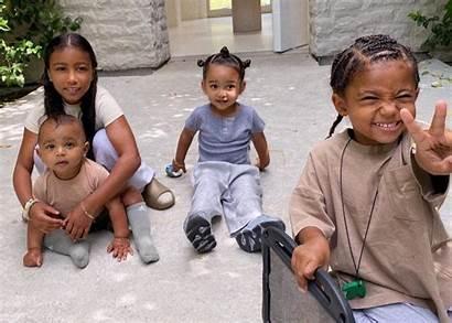 Kardashian Kim Children West Chicago Saint Psalm