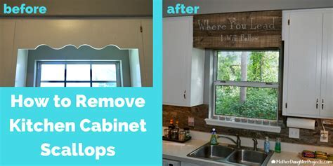 Cover Scalloped Wood Valance Over Kitchen Sink   Mother