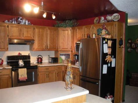 tired   honey oak cabinets