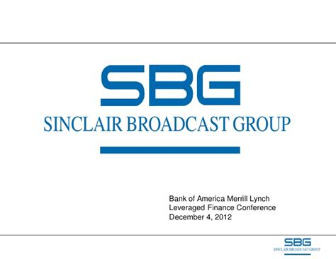 Sinclair Broadcasting Group BoA Finance Conference