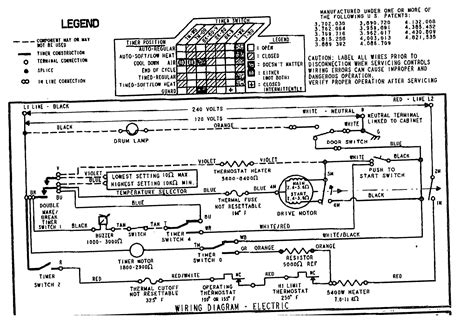 wiring diagram kenmore dryer