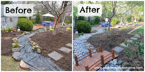 Cheap Backyard Makeover - pink and green diy backyard makeover on a budget