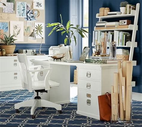 Pottery Barn Bedford Corner Desk Dimensions by Bedford Rectangular Desk Set Pottery Barn