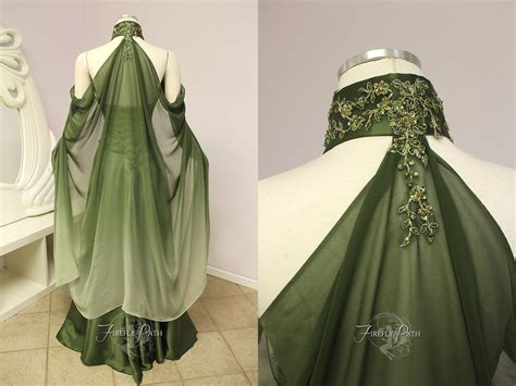 Elven Bridal Gown Back View By Firefly-path On Deviantart