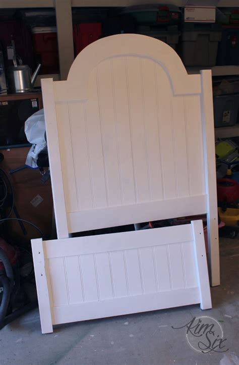 Diy Headboard Footboard by Arched Beadboard Headboard Footboard Jpg