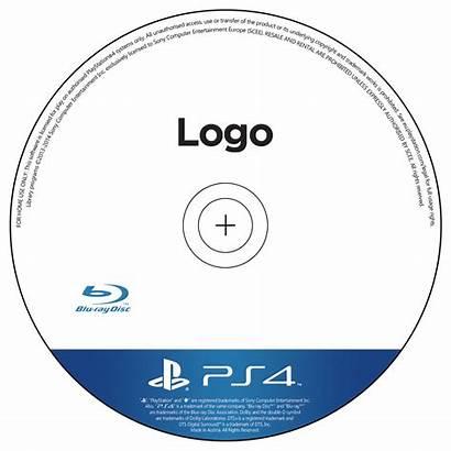Ps4 Disc Template Cd Psd Label Blu