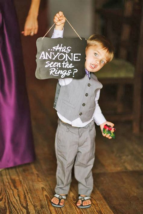 cute ideas   ring bearer page    puff