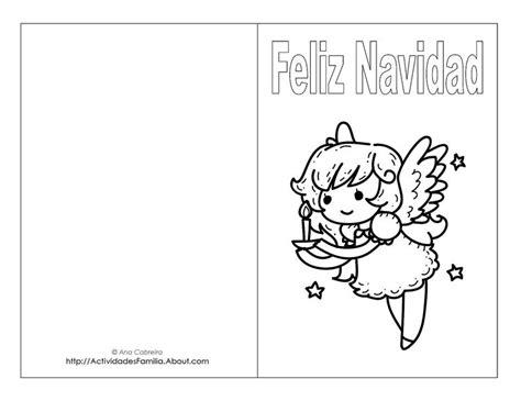 dibujos para tarjetas de navidad para ni241os tarjetas de navidad para imprimir y colorear