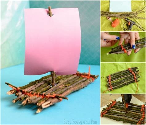 How To Make A Boat Go Forward by Twig Boat Craft Boat Crafts Nature Crafts And Boating
