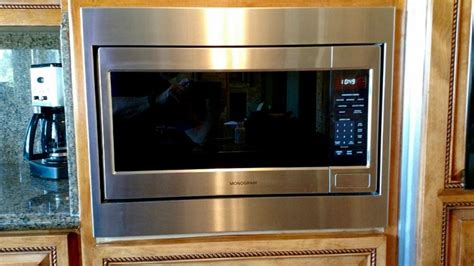 monogram microwave model zebshss custom trim kit microwave built  microwave trim kit