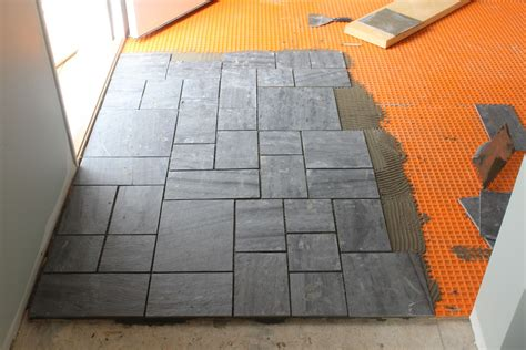 installing floor tile slate with every step dzine talk