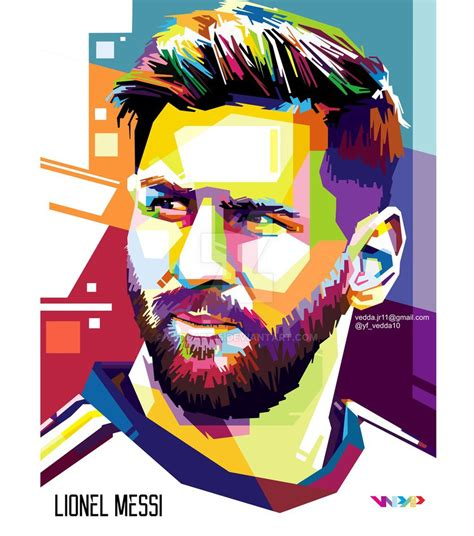 New Wpap Gusdur lionel messi in wpap by veddart15 on deviantart