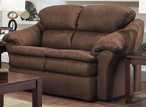 Chocolate Loveseat by Chocolate Microfiber Modern Sofa Loveseat Set W Pillow Arms
