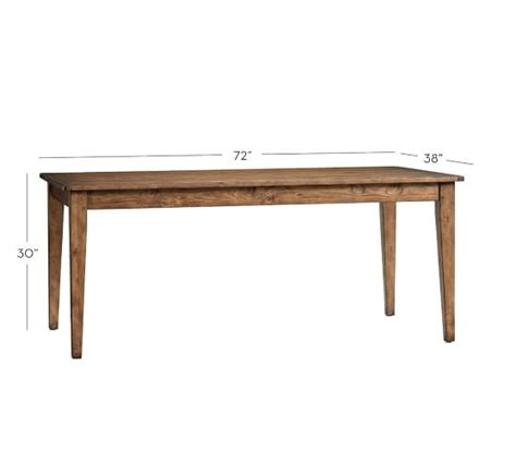 braxton fixed dining table pottery barn