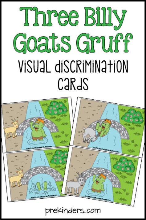billy goats gruff visual discrimination prekinders 862   billy goats gruff visual discrimination