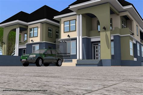 bedroom twin duplex modern  contemporary nigerian building designs