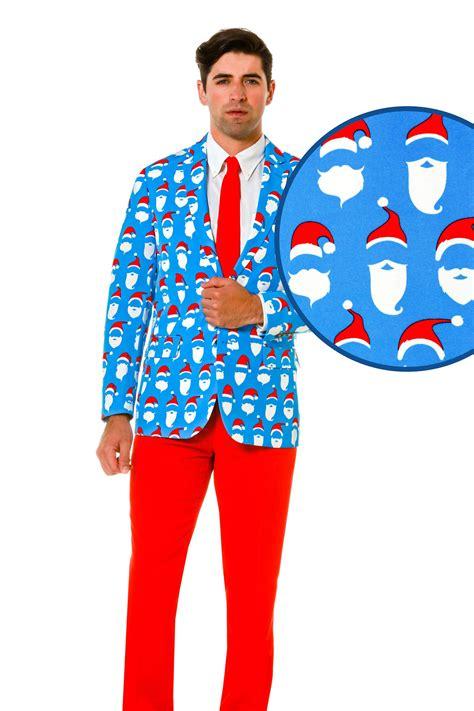 men s blue santa sweater suit 50 shades of santa