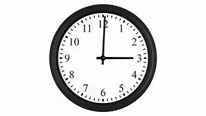 Animated Clock Counting Down 8 Working Hours With Red