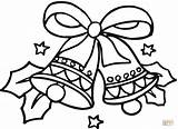 Coloring Bells Christmas Pages Printable Dot Paper Drawing sketch template