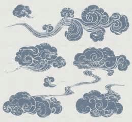 Drawn tattoo cloud - Pencil and in color drawn tattoo cloud