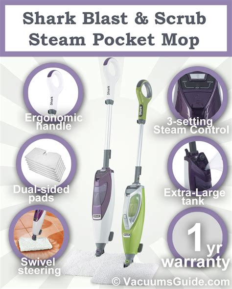 shark blast scrub steam pocket mop not your ordinary steamer