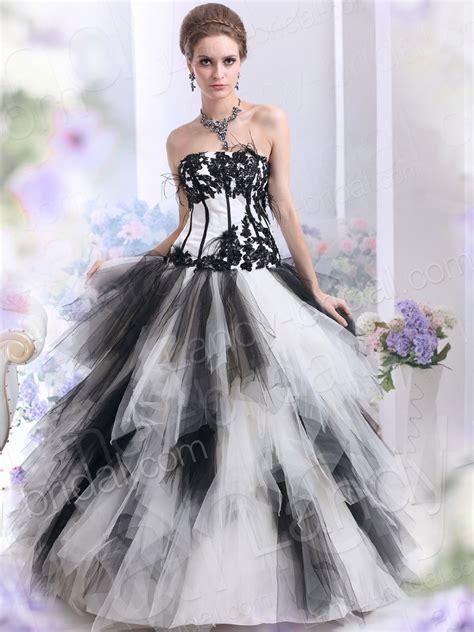 gothic wedding dresses black and white dark elegant gothic wedding dress fashion