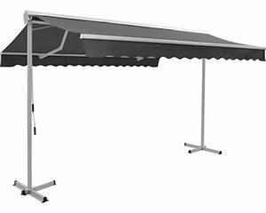 Mobile markise 4x3 m stoff uni grau kaufen bei hornbachch for Markise balkon mit tapete taupe uni
