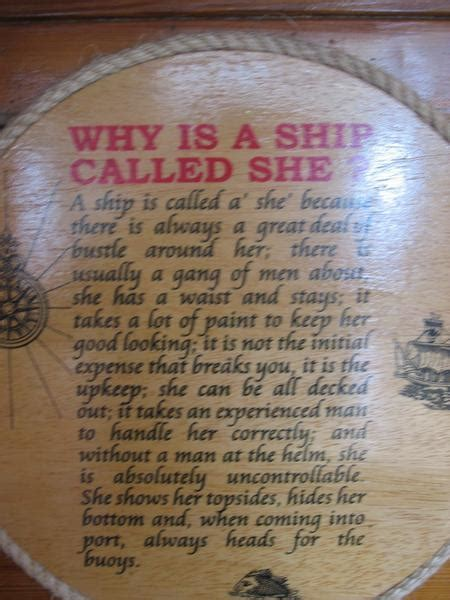 """Why Is A Ship Called """"she"""" Photo"""
