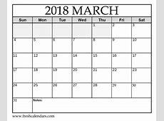 March 2018 Calendar FREE DOWNLOAD 20+ High School
