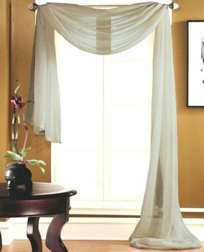Scarf Drapes - 1 scarf valance voile sheer fabric window curtain