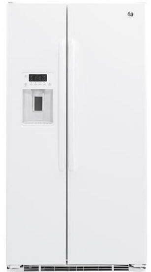 ge  cu ft counter depth side  side refrigerator white gzsdgjww friedmans appliance
