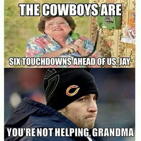 Bears Cowboys Meme - too funny the o jays and dallas cowboys on pinterest