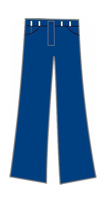 Jeans Pants Clip Cartoon Clipart Denim Trousers
