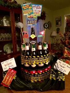 40th birthday cake i put coke cans on the bottom