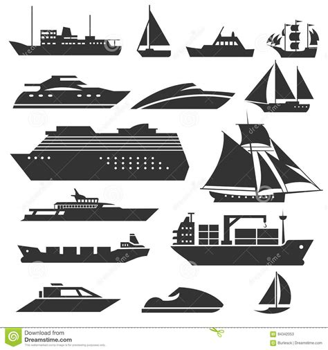 Barge Boat Icon by Ships And Boats Icons Barge Cruise Ship Shipping