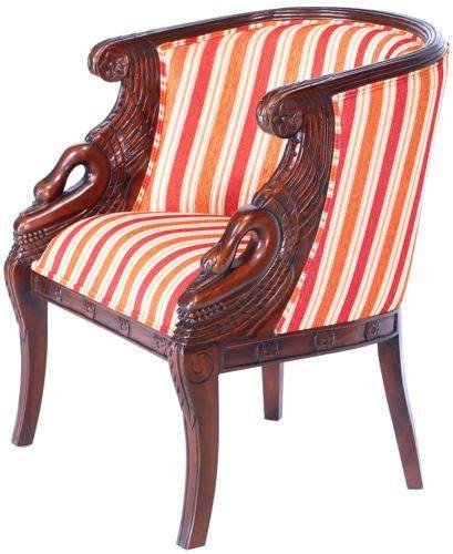 fauteuil gondole style empire napoleon a cols de cygne