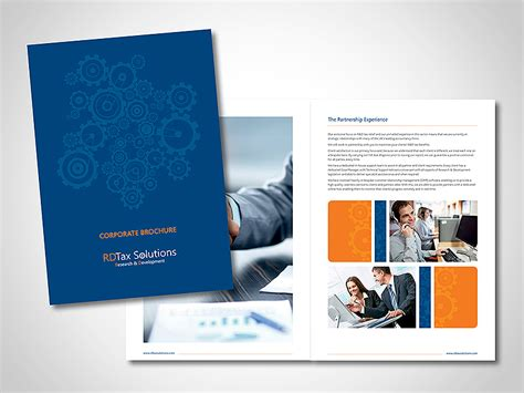 Four Page Brochure Brickhost 3c060785bc37 Brochure Companies Brochure Design Corporate Brickhost