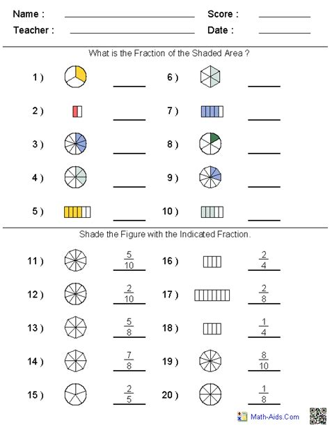 Naming Fractions Worksheet  Fractions Worksheets Free Printables Education 1000 Images About