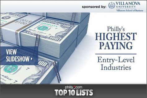 Best Paying Entry Level by Philly S Highest Paying Entry Level