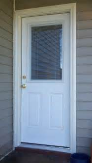 new therma tru fiberglass door is installed in