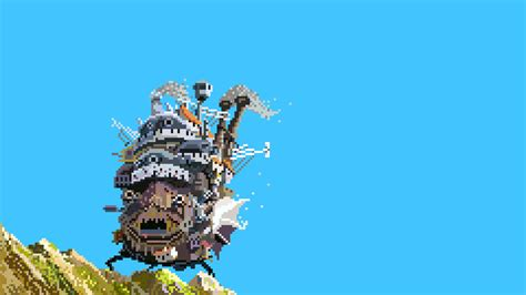 Howl S Moving Castle Hd Studio Ghibli Howl 39 S Moving Castle Love Pixel Art Pixels Wallpaper No 70779