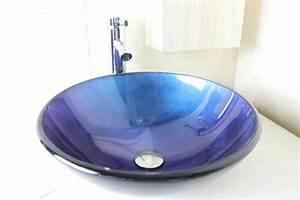 Glas Waschbecken Rund : glas waschbecken modern rund blau ohne wasserhahn ~ Markanthonyermac.com Haus und Dekorationen