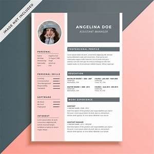 feminine and elegant resume template vector premium download With feminine resume template