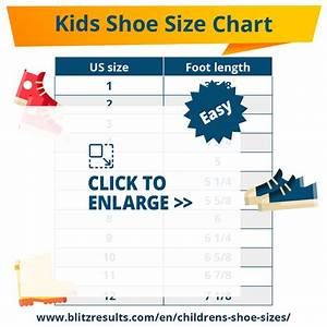 Children 39 S Shoe Sizes By Age