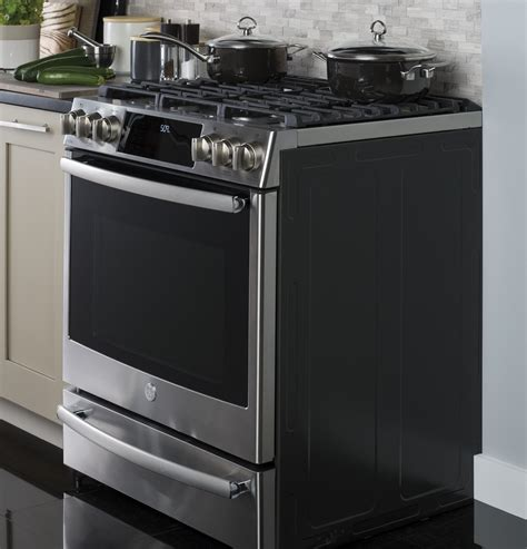 ge profile series pgsfelds    front control gas range  appliances