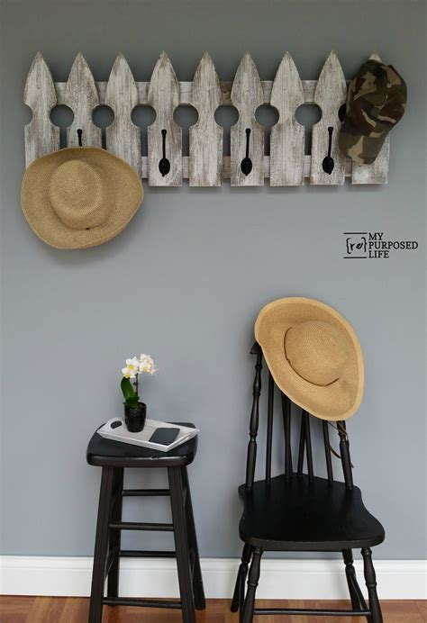 picket fence coat rack  repurposed life