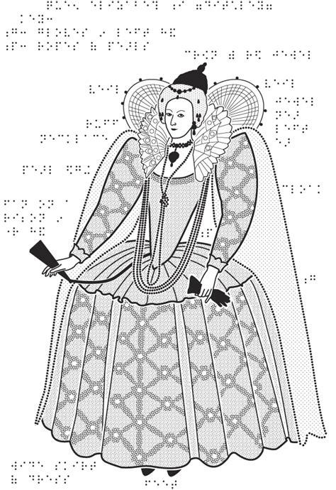 queen elizabeth  drawing sketch coloring page