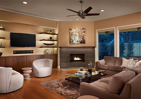 clever tips  decorate  corner fireplaces