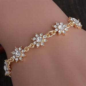 Free shipping Wholesale Pretty Flower 18K Gold Filled ...